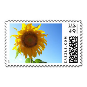 This gorgeous sunflower is from my Autumn Collection. The day I took this sunflower picture was a crisp and clear sunny Autumn day. Share the beauty with this postage stamp and brighten someone's day!